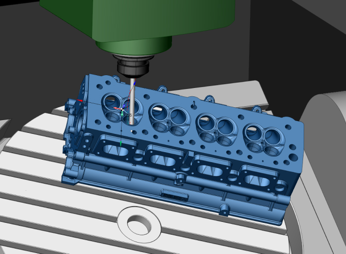 5 axis port machining in the cylinder head