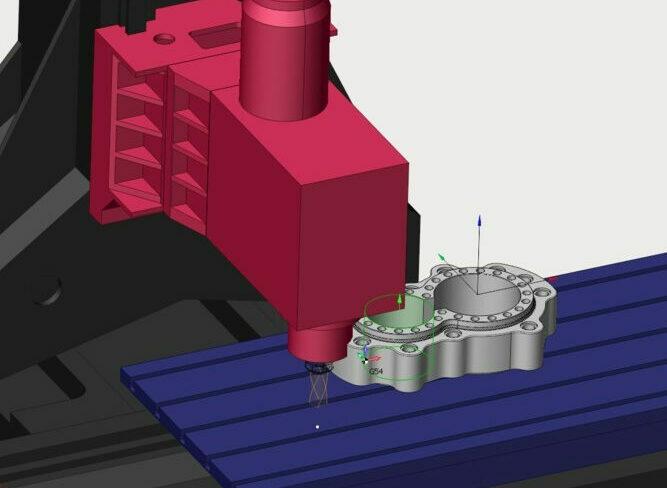 Moving parts collision control in SPrutCAM