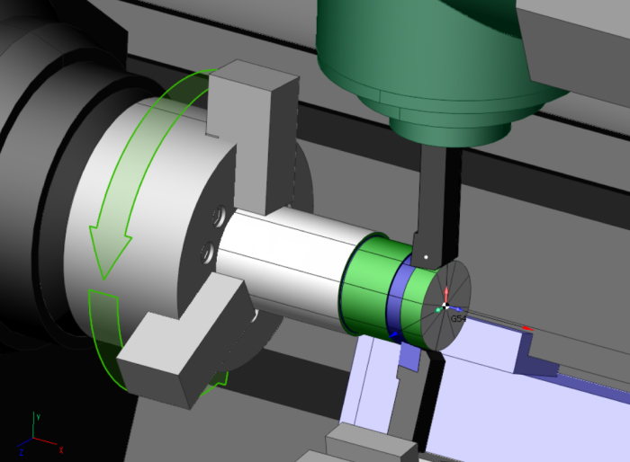 Synchronous 2-cutters rough turning