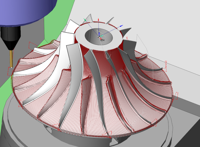 Turbine wheel machining