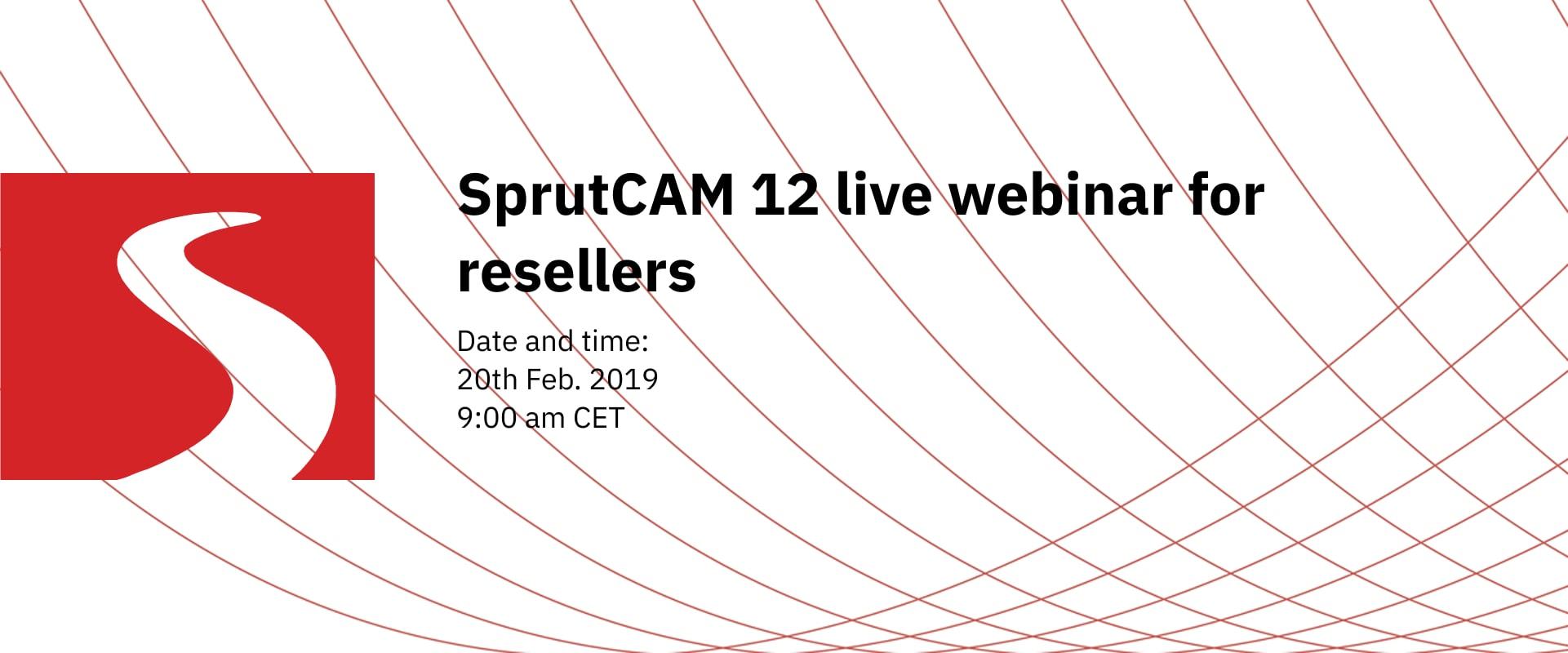 SprutCAM 12 live webinar for resellers
