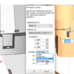 Import CAD model and select workpiece