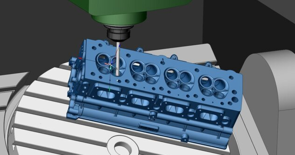 CAD/CAM software is used for manufacturing parts using CNC machines