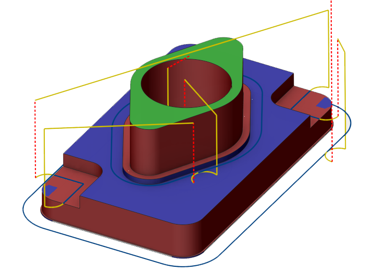 2.5D Konturbearbeitung mit Tiefenerkennung