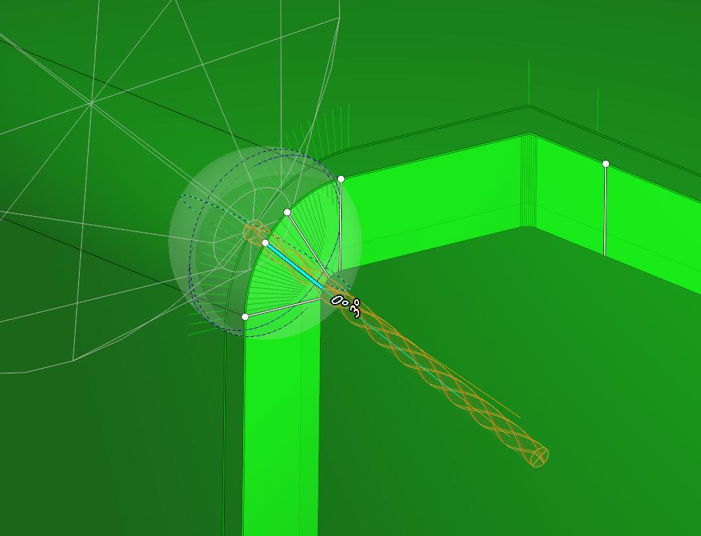 Tool vector control