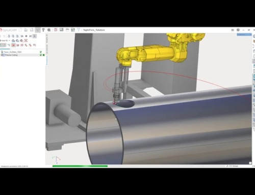 Robot plasma cutting by SprutCAM Robot
