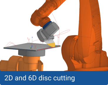 2D and 6D disc cutting