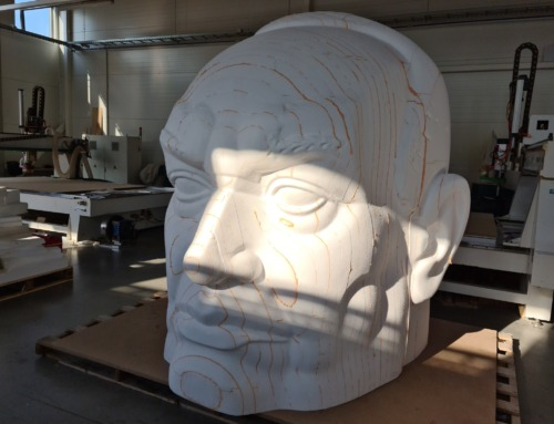 """Huge """"Head"""" by EPS robot milling"""
