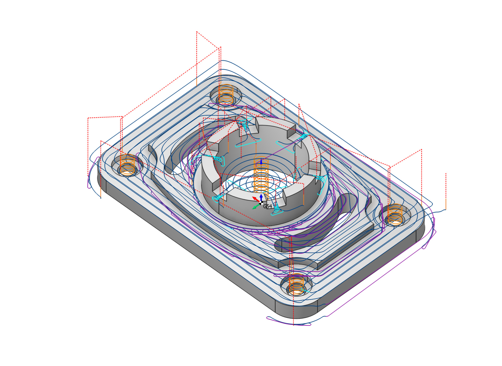 Calculated toolpath